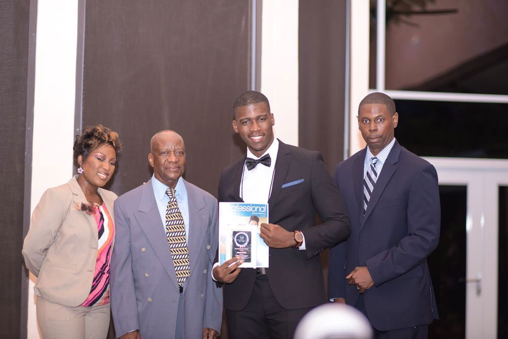 Brinard Sweeting awarded the 40 Under 40 Most Influential and Successful Professionals Bahamas Award in 2018